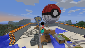Spherical Pokeball in Minecraft by eray1234