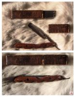 Straight Razor Handle by Obsidian-Asphodel