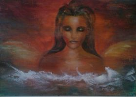 Guardian Angel 70x120 by riakooistrapaintings