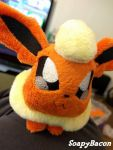 A Wild Flareon Plush Appears! by TheHarley