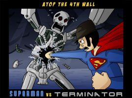 AT4W - Superman VS Terminator by MTC-Studios