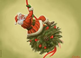 Santa came in like a Wrecking Ball! by David-Lacasse