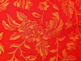 Florence Bedspread Texture in Red and Gold by 4EpilepsyAwareness
