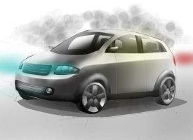 Audi a2 render by MartinEDesign