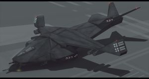 A-221 INTRUDER Dropship 2D Commission by AdamKop