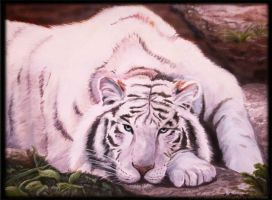 White Tiger in Oil by PrincessXena1027