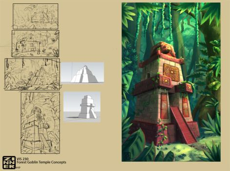 Forest Temple concepts by PickedPockets