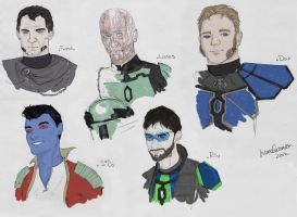 Merc Faces by mandomemory