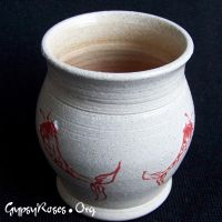Red Koi Vase by che4u