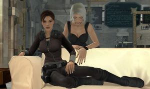 XNA Lara And Amanda On Couch by Ranock