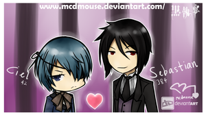 Ciel and Sebastion by mcdmouse