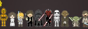 Kawaii Star Wars by kepalakardus