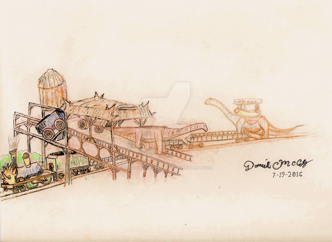 Dinotopia and Chandara Railway by dinodanthetrainman