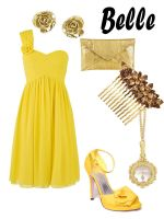 Disney Fashion: Belle (Yellow Dress) by EvilMay