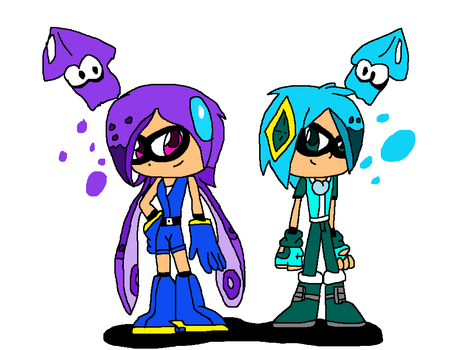 Lilac and Corrin as the Inklings by Jack-Hedgehog