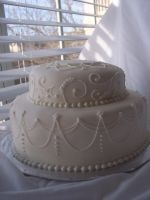 Vow Renewal Cake Side-View by eckabeck