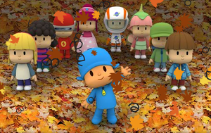 Pocoyo and the other kids by murumokirby360