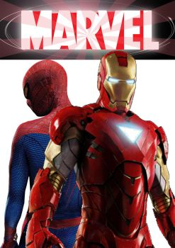 The Astonishing Spider-Man and Iron Man by stick-man-11