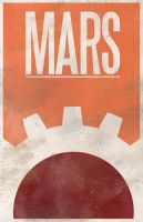 40k mars travel poster by jwagnaar
