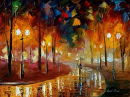 The turn to joy by Leonid Afremov by Leonidafremov