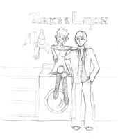 Tonks and Lupin by loonylovegood93