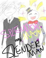 SPLENDORMAN AND SLENDERMAN. by mzylove
