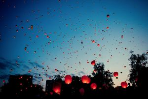 sky lanterns by kotopez
