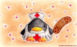 First Aid Penguin by B-Keks