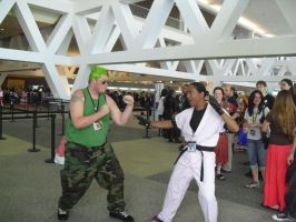 guile vs dan2 by dante-is-god