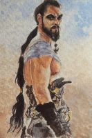 Khal Drogo - watercolor - fan art by Giselle-M
