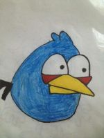 Blue Angry Bird by Sugerpie56