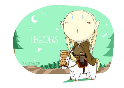 Curious Legolas by BLACK4REST