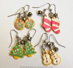 Frosted Christmas Sugar Cookie Earrings by Bon-AppetEats