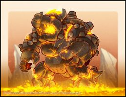 Lava Golem Bowser by RatchetMario
