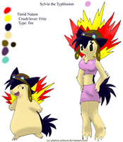 Ref- Sylvie the Typhlosion by FENNEKlNS