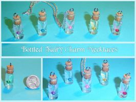 Zelda - Bottled Fairy Necklace by YellerCrakka