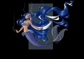 anna blue rose (mermaid)  -  commission by nightwing1975