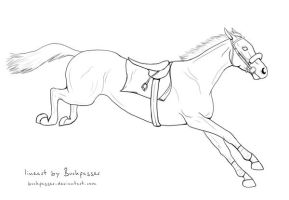 Steeplechaser Lineart by Buckpasser