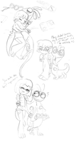 Mondall Sketchies by CuddlesAndHuggles