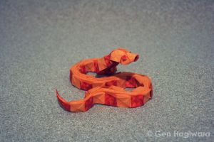 Origami Snake by GEN-H