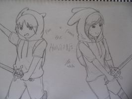 Finn and Fionna the Humans by abegailbucu