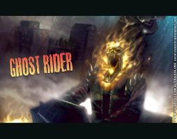 the ghost riding in town by OscarCelestini