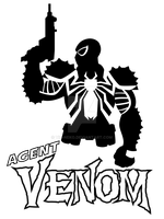 Agent Venom T-Shirt by Vic-Neko