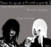 How to give a smile [to Tristan] by GrymRyder