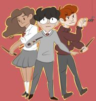Golden Trio by CeeCeeMV