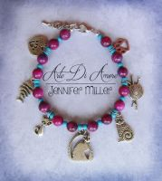 Kitty Cats Beaded Charm Bracelet by ArteDiAmore