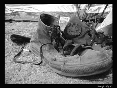 Shoes.Black and White view. by nickell