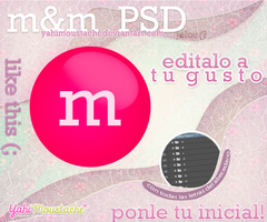 m and m PSD, ponle tu inicial! by Yahi-m