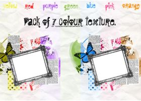 Pack of 7 colour texture by divasofstyle