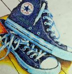Pointillism Converse (WIP) by ChameleonColours